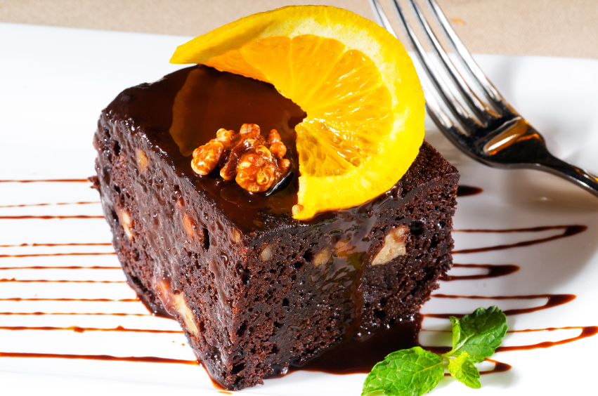 The Vintage Olive's Blood Orange-Kahlua Brownies