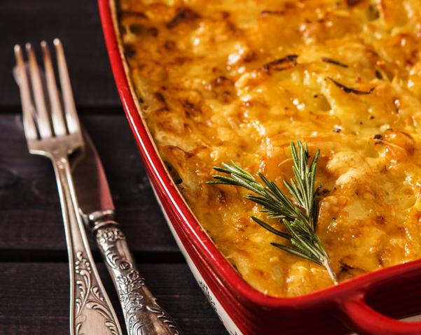 Truffled Pasta-Butternut Squash Casserole