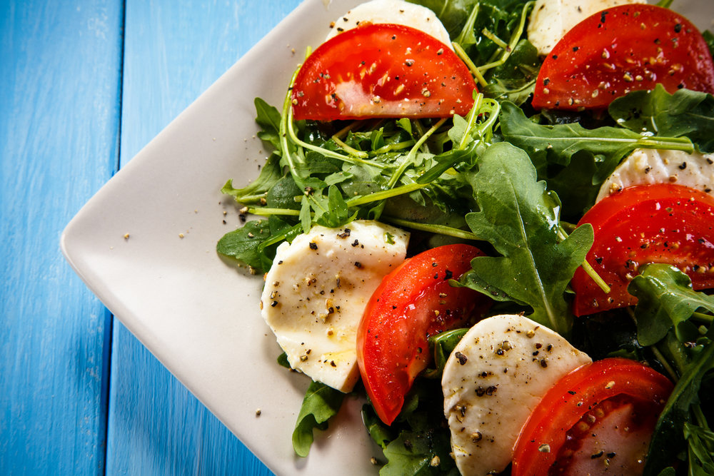 Torn Basil, Heirloom Tomato & Mozzarella Fresca Salad