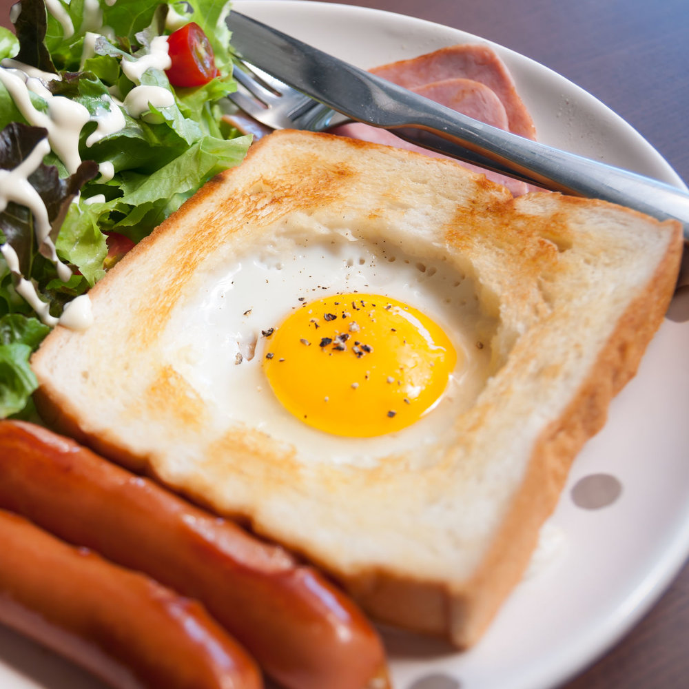Baked Eggs in a Brioche Basket