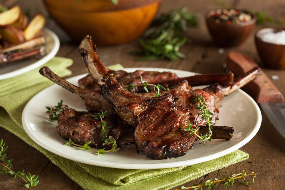 The Vintage Olive's Mushroom, Sage & Mint Lamb Chops