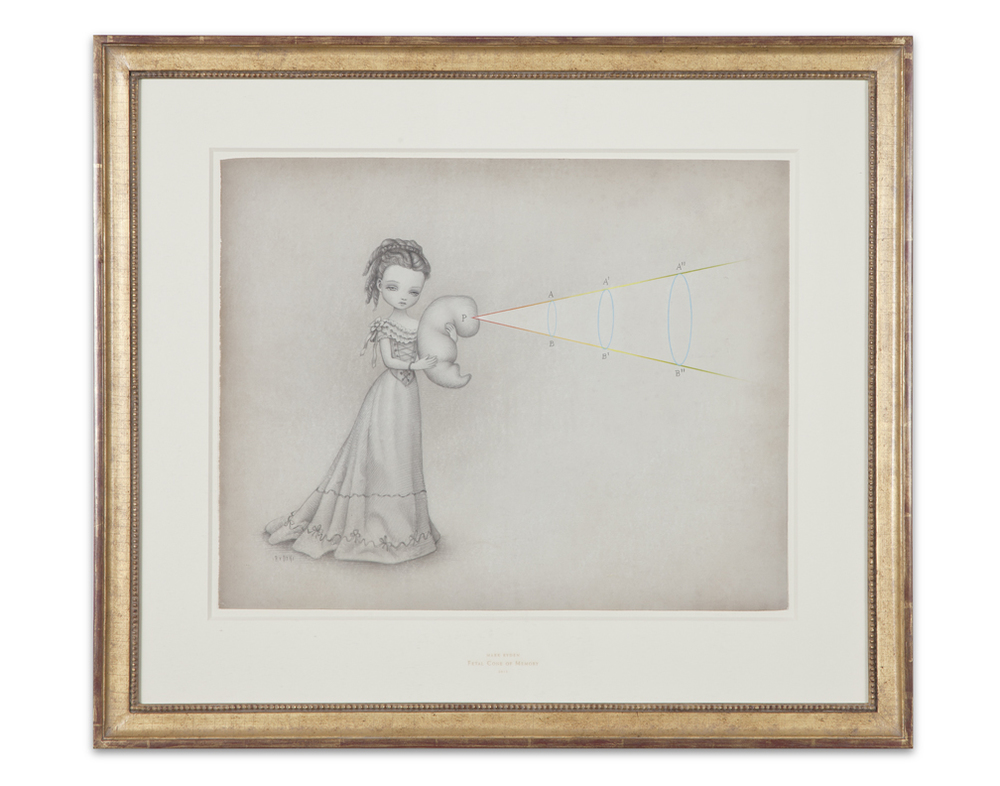 Mark Ryden,  Fetal Cone of Memory , 2012, graphite and watercolor on paper, 25 x 28 1/2 inches