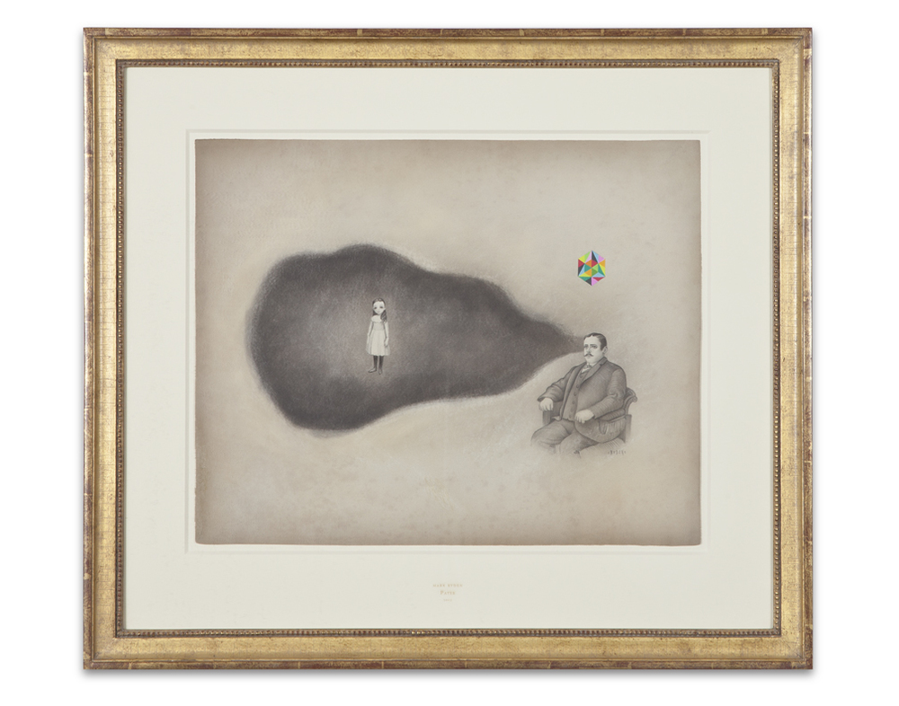 Mark Ryden,  Pater , 2012, graphite and watercolor on paper, 25 x 28 1/2 inches