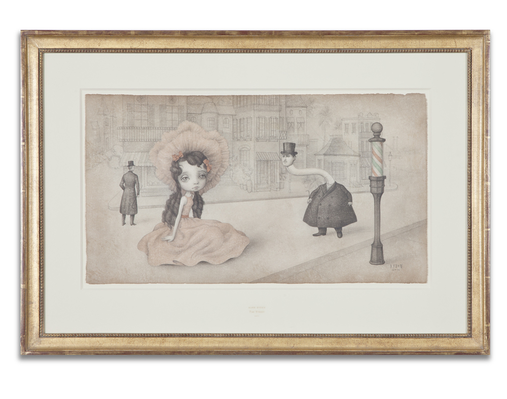"Mark Ryden, ""The Street,"" 2011, graphite and watercolor on paper, 22 x 32 inches"