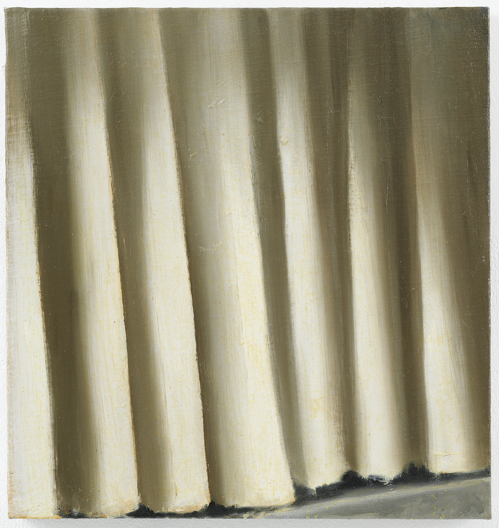 Cristof Yvorè,  Untitled (Curtain),  2009, oil on canvas, 22 x 20 1/2 inches