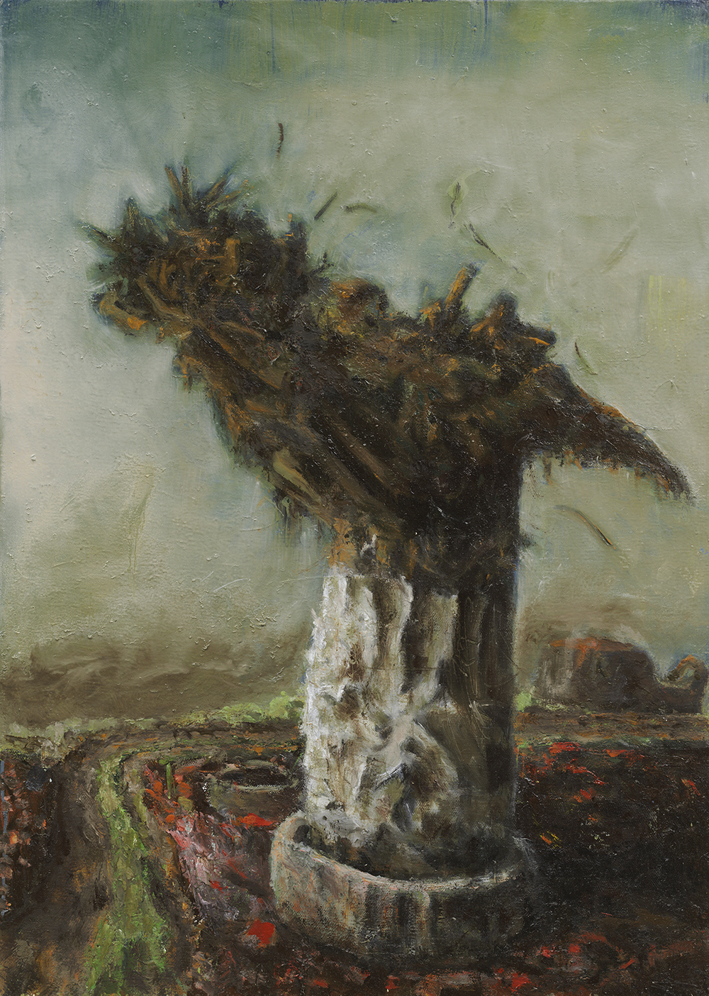 "Cristof Yvorè, ""Untitled,"" 2008, oil on canvas, 41 x 29 1/4 inches"