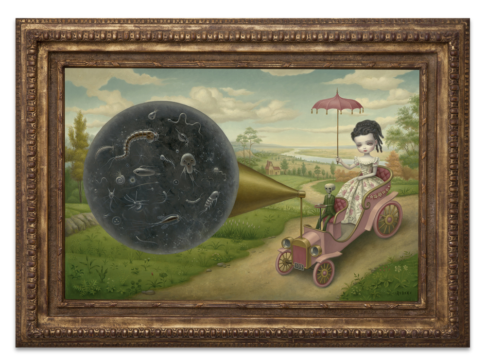 Mark Ryden,  The Cone of Memory,  2012, oil on canvas with vintage frame, 37 1/2 x 30 1/5 inches
