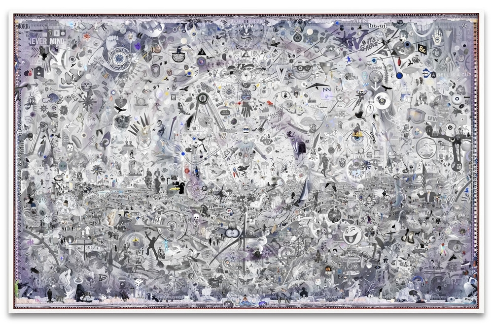 Simmons & Burke,  Uncertain Landscape (The Radicant) , 2014, pigment print and custom audio software, 57 1/7 x 90 inches