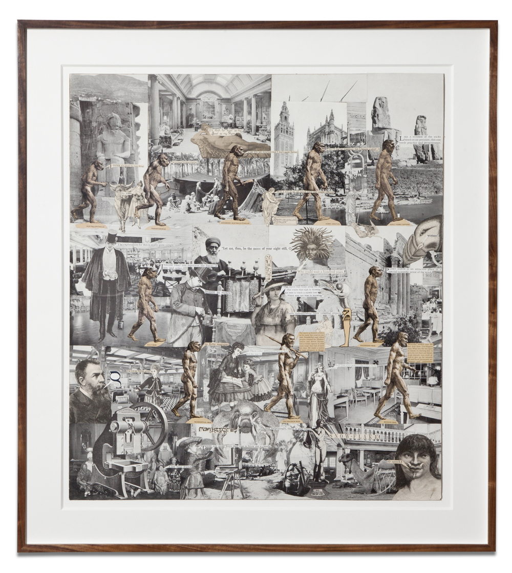 Lawrence Jordan,  HISTORY OF MAN , 2012, collage, 26 X 23 inches