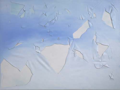 Joe Goode, Torn Cloud Painting 73, 1972, oil on canvas