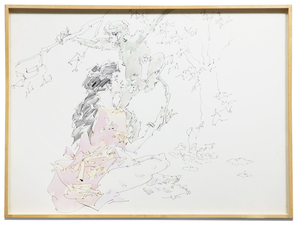 John Altoon,  Untitled (ANI-42) , 1968, ink and airbrush on paper, 30 x 40 inches