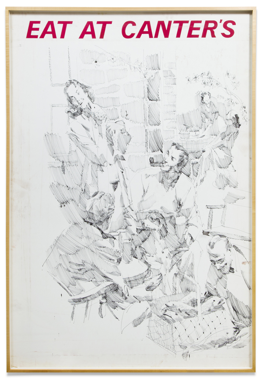 John Altoon,  Untitled (F-6) , 1963, ink on paper, 60 x 40 inches