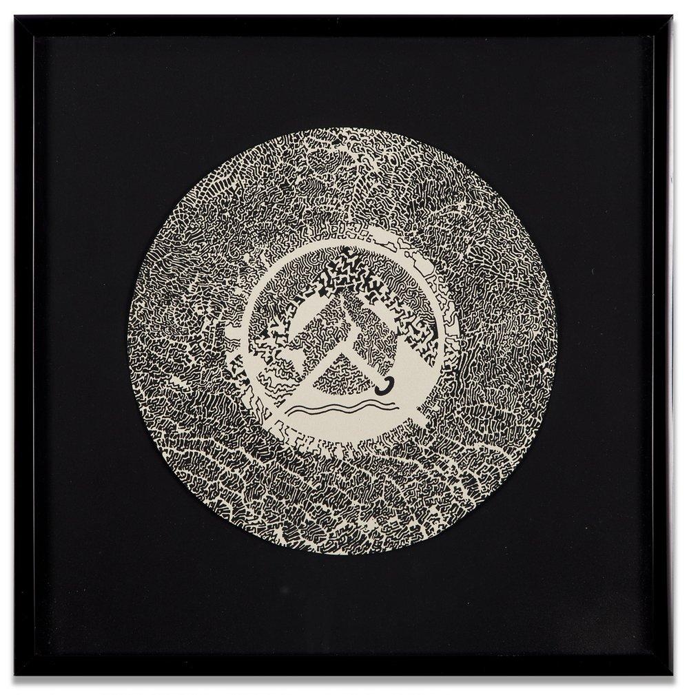 Bruce Conner, SINGLE MANDALA, c. 1970-71, Lithograph, 8 1/2 diameter