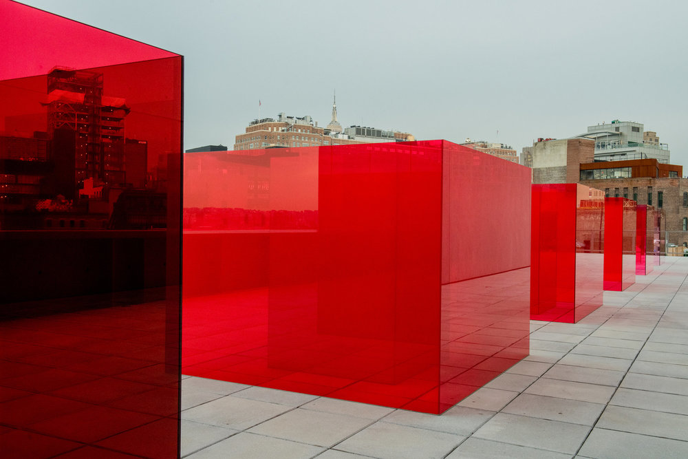 Laminated glass boxes by the West Coast artist Larry Bell, part of the Whitney Biennial at the Whitney Museum of American Art.CreditCollection of the artist; courtesy Hauser Wirth & Schimmel, Los Angeles; Photograph by George Etheredge for The New York Times