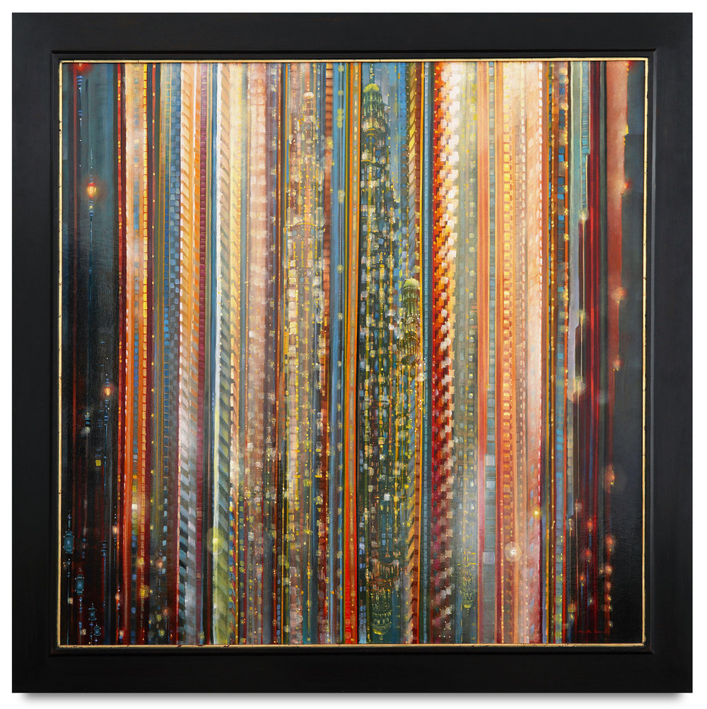 Mark Innerst,  Spectra , 2018, oil on canvas, 48 x 48 inches; framed 56 1/4 x 56 1/4 inches