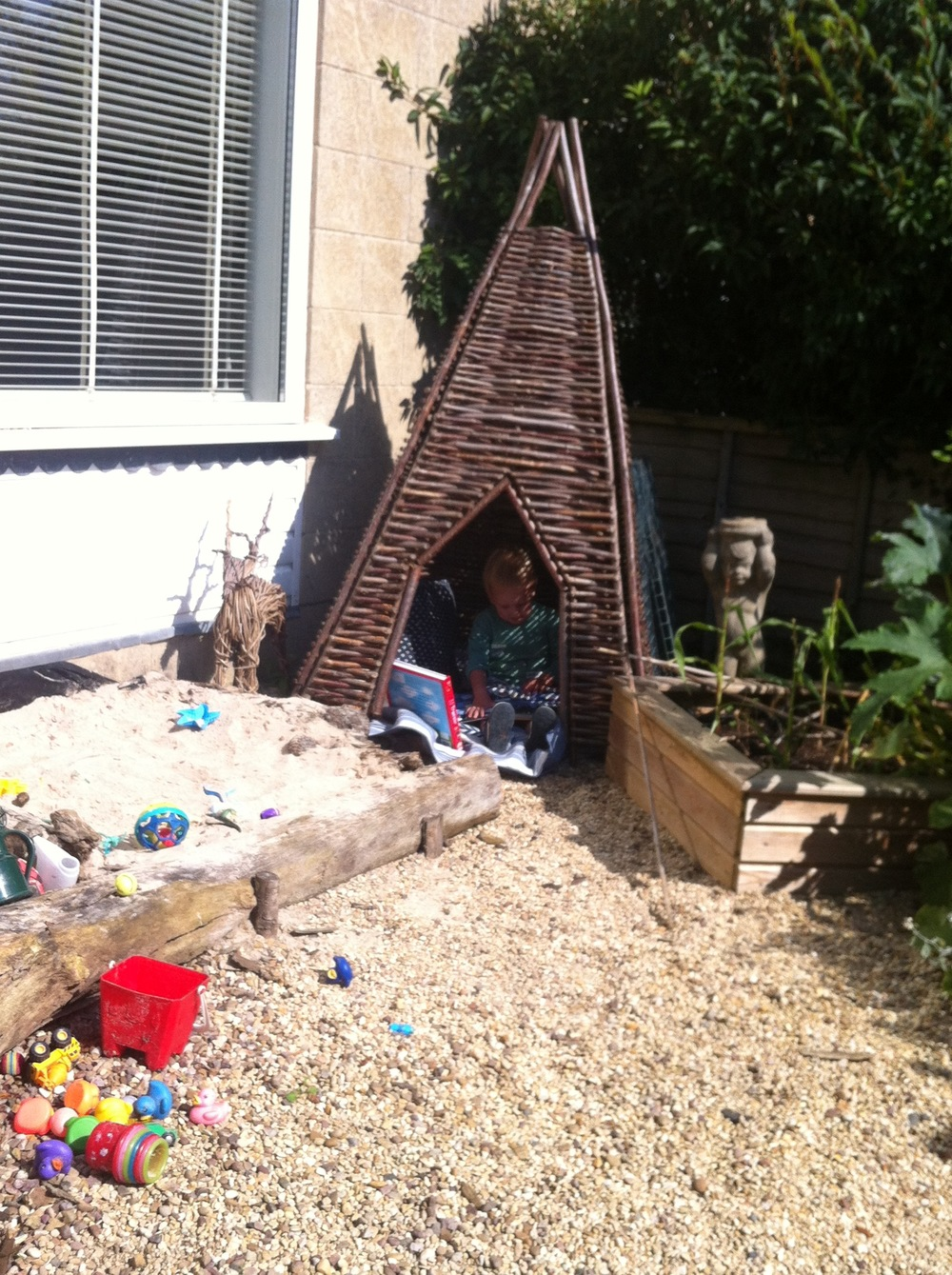 Sandpit fun and Rocket Den