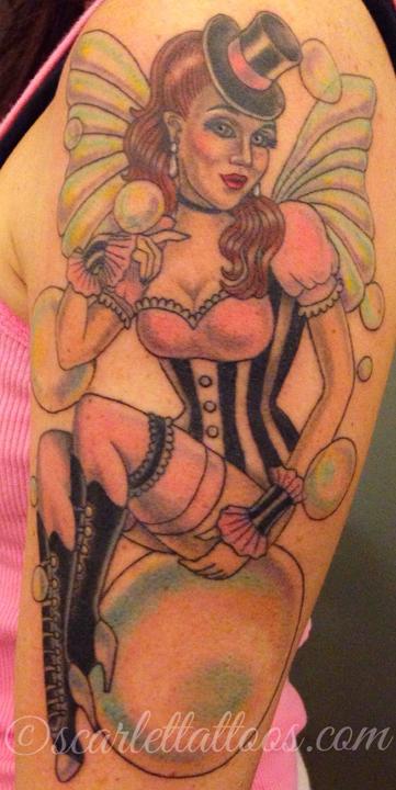 Elvgren inspired burlesque faerie pinup.