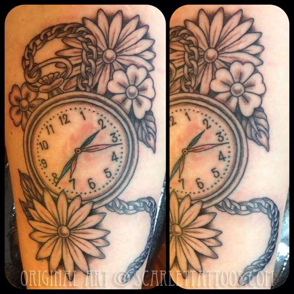 Victorian Pocket Watch tattoo