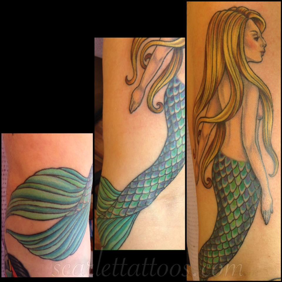 Classic Mermaid Tattoo