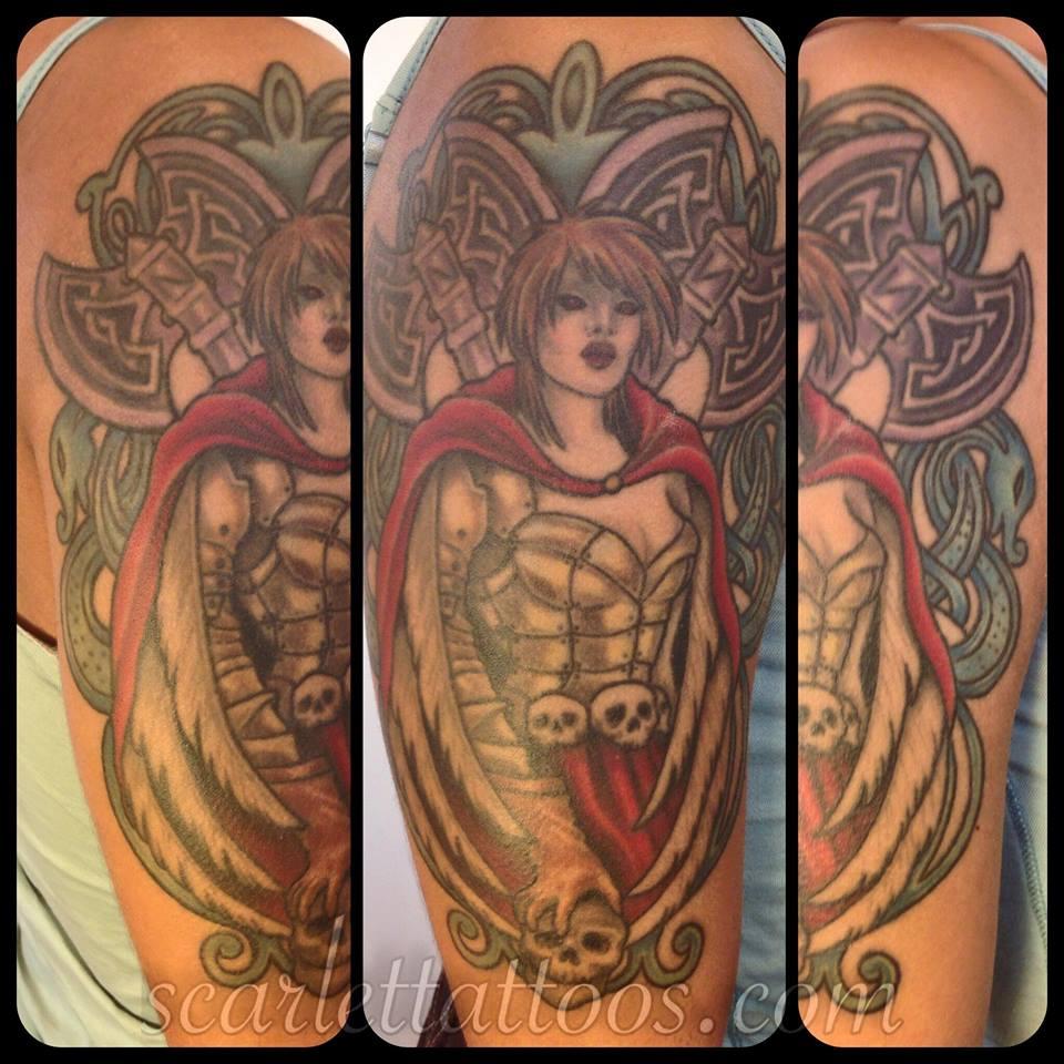 Guardian Avenging Angel Tattoo