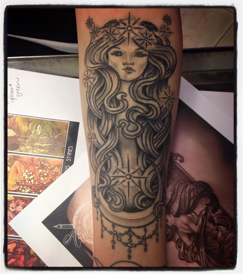 Moon Goddess tattoo