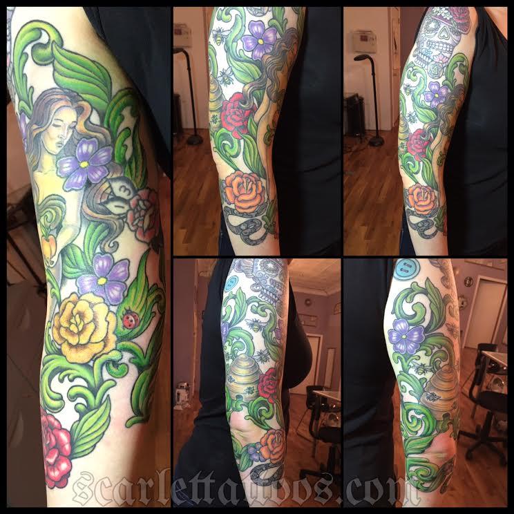 Eve in the Garden of Eden tattoo