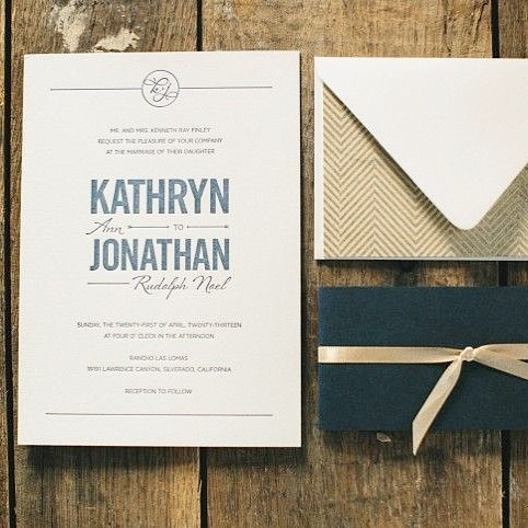 I still can't believe Jon and I have been married 5 years this past weekend! FIVE! It has gone be fast but in the best of ways. In honor of it I thought it would be fun to post our own invitations 💌⠀ .⠀ •⠀ I know some people could care less about their wedding invitations or paper details, but to me it was one of the most fun parts of wedding planning. From the beginning I knew I had to have letterpressed invites on thick 220# cotton paper. Still in love to this day with them! Printed by @czarpress .⠀ .⠀ .⠀ .⠀ #katienoeldesigns #weddinginspo #bridetobe #weddinginvitations #weddinginvites #snailmail #dailydoseofpaper #onmydesk #designstudio #custominvites #letterpress #letterpressedinvites #navyandgoldinvites