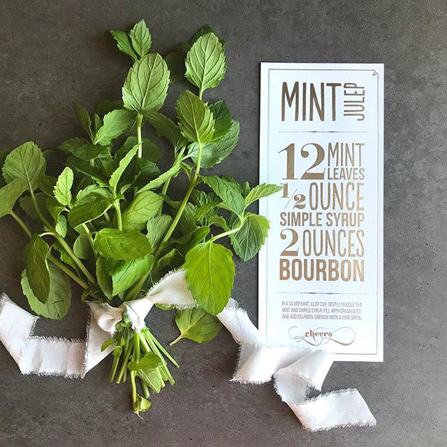 Mint juleps for the Kentucky Derby today. Then moving right on to margaritas and tacos tonight 😅 • . . . #mintjulep #mint #derby #kentuckyderby #silverfoil #etsyseller #etsylove #etsyfinds #printdesign #shopetsy #derbyhats #horseracing #horseraces