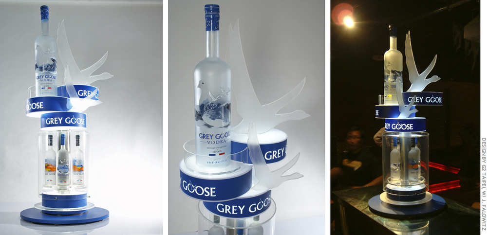 Grey Goose: bottle glorifiers for on-premise
