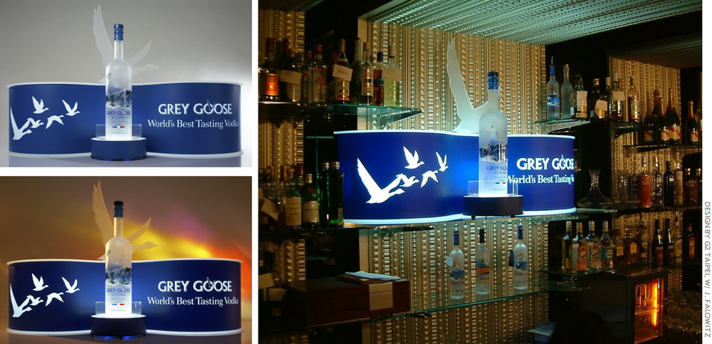 Grey Goose: installations for on-premise