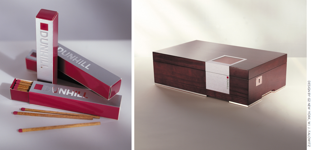 The Dunhill Signed Range Cigars: cedar cigar matches and rosewood humidor