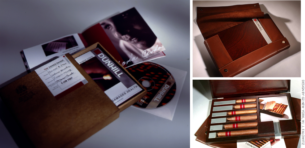The Dunhill Signed Range Cigars: sales kits and trade presenter
