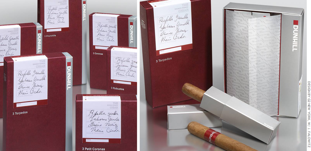 The Dunhill Signed Range Cigars: 3pack for global duty free