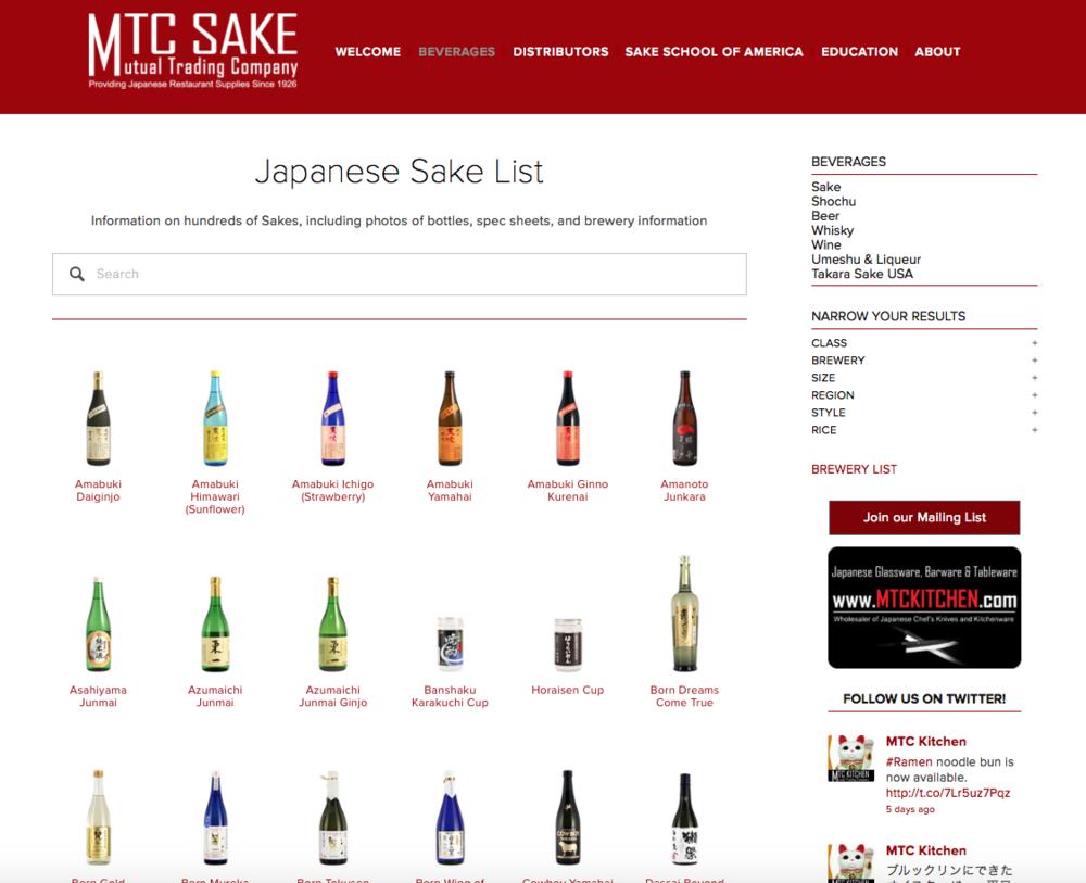 MTC Sake - Distributor