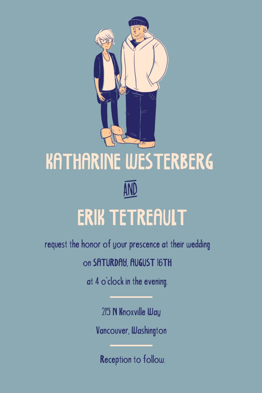 Wedding invitation. 2014.