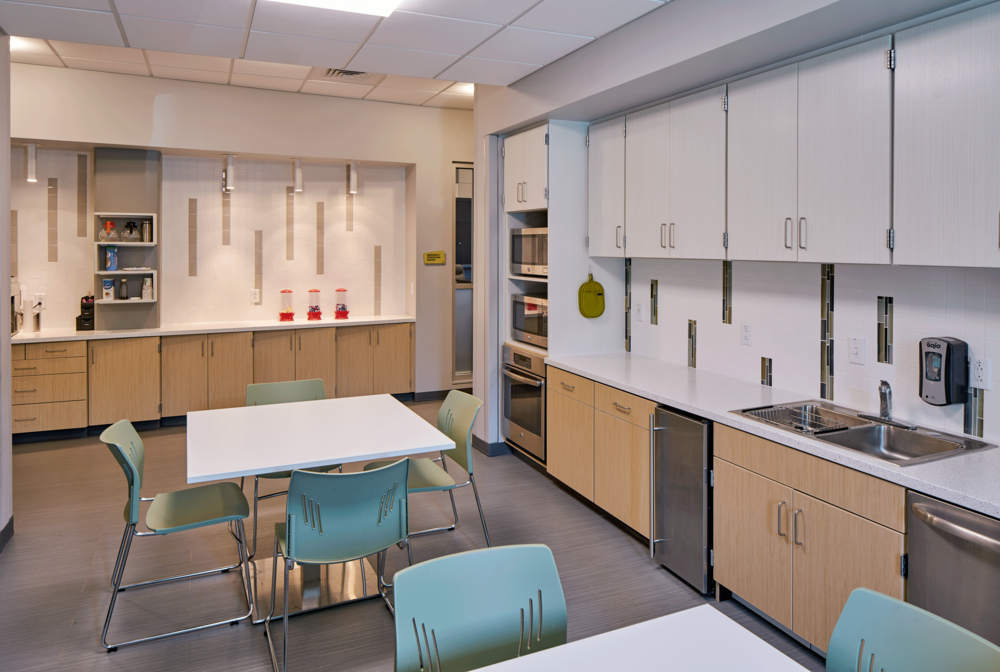 shared kitchen that connects EOC and ECC