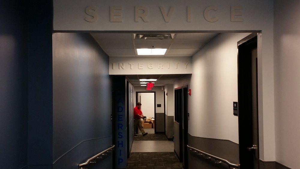 Hallway graphic details