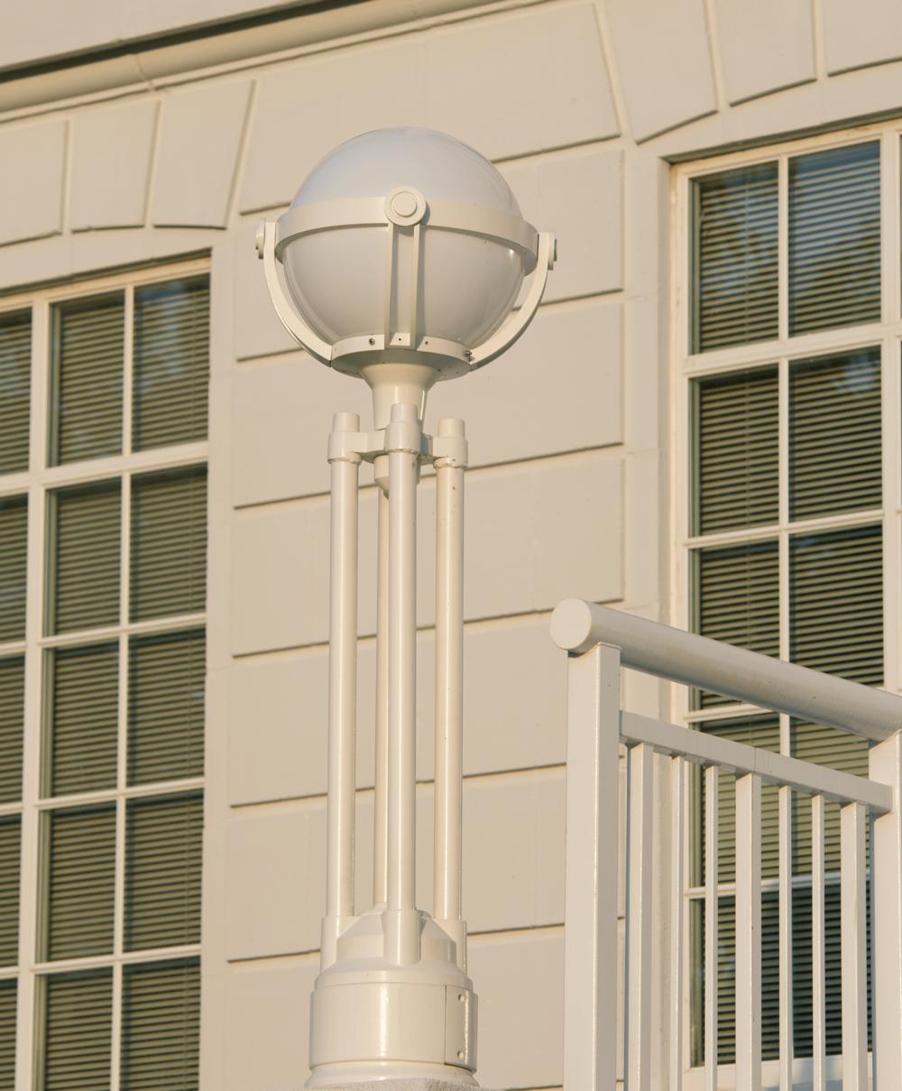 Lamp at entrance