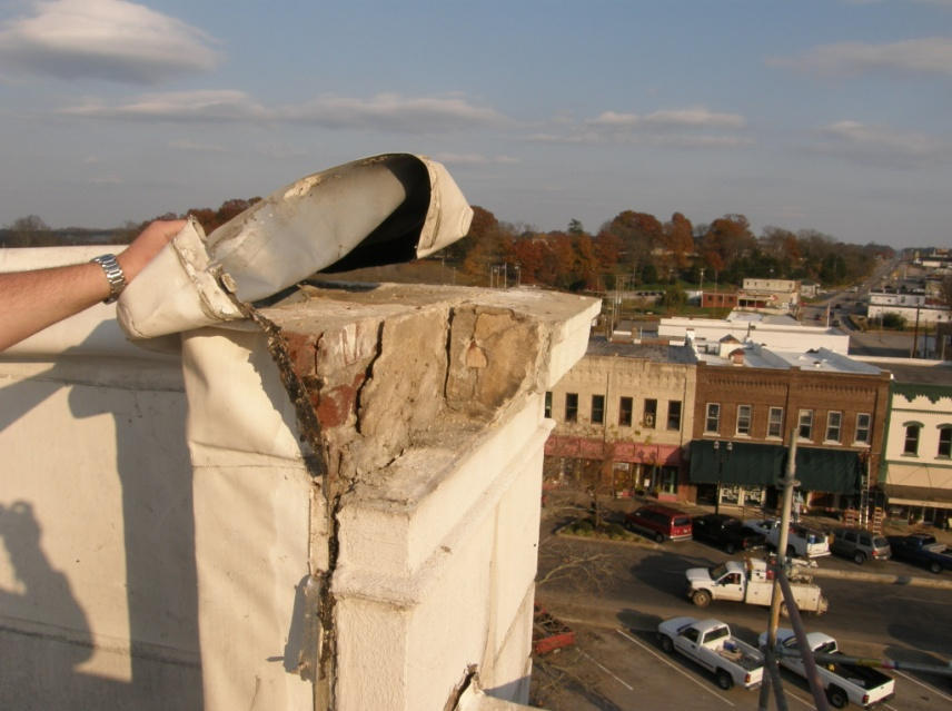 Roof deterioration before