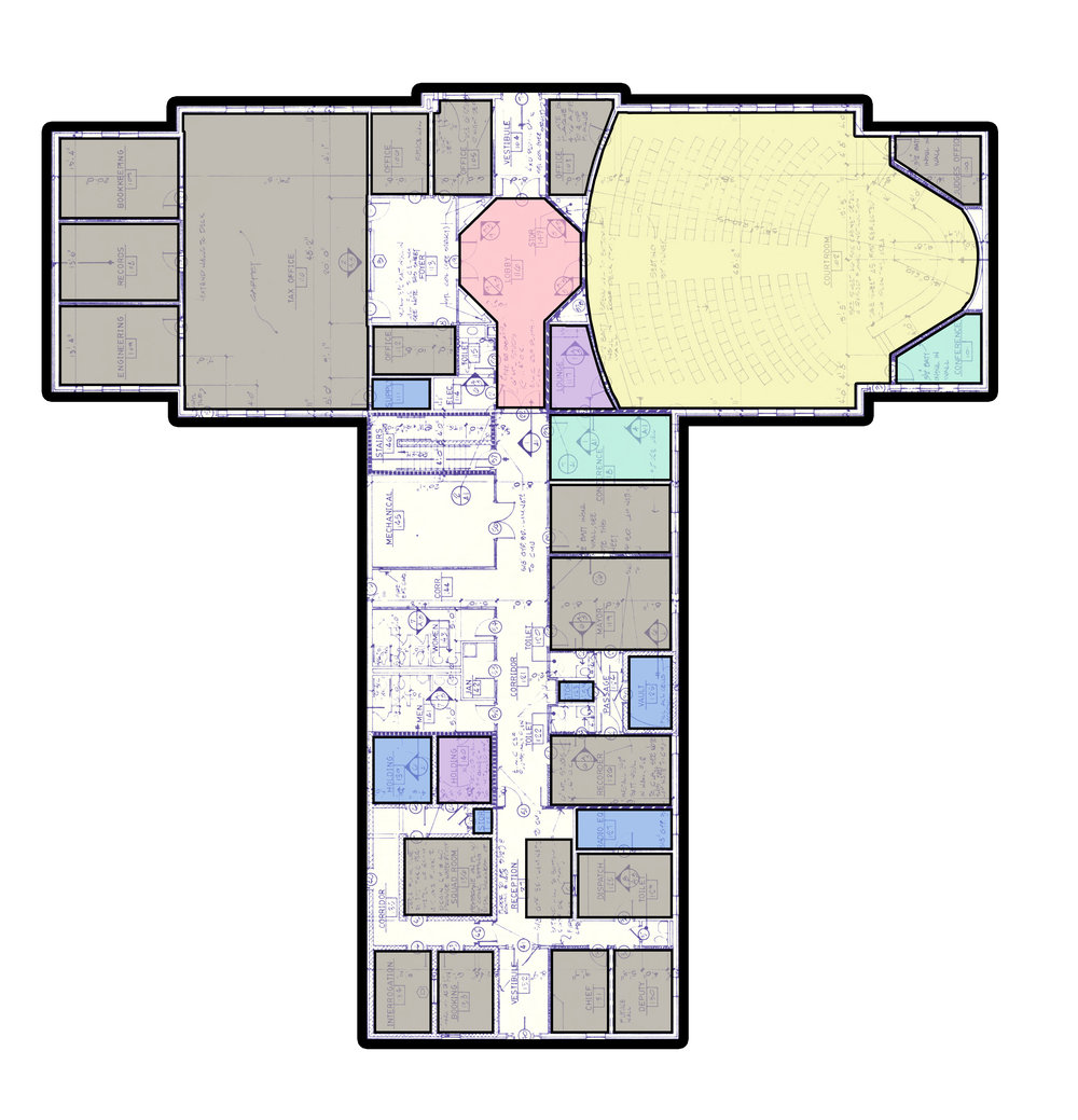 City Hall existing main floor plan