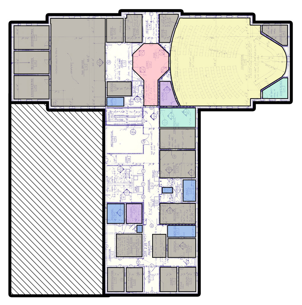 City Hall proposed main floor plan