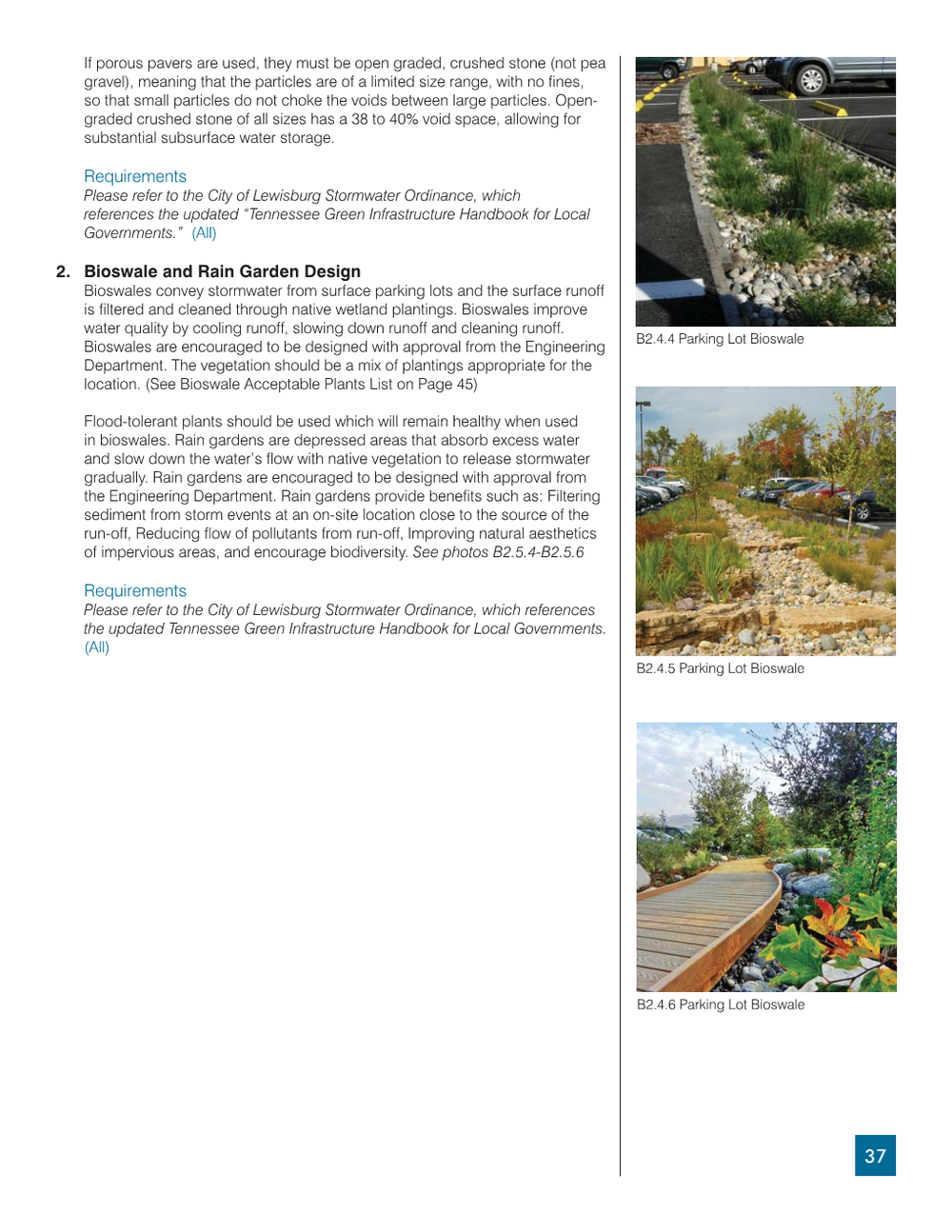 Example of Bioswale Guidelines