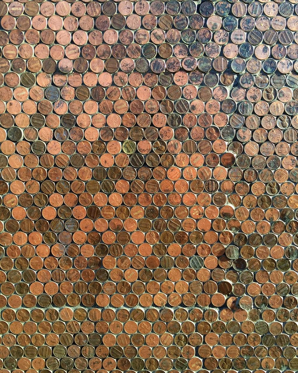 "Handlagd ""mosaik"" på Lucky Penny."