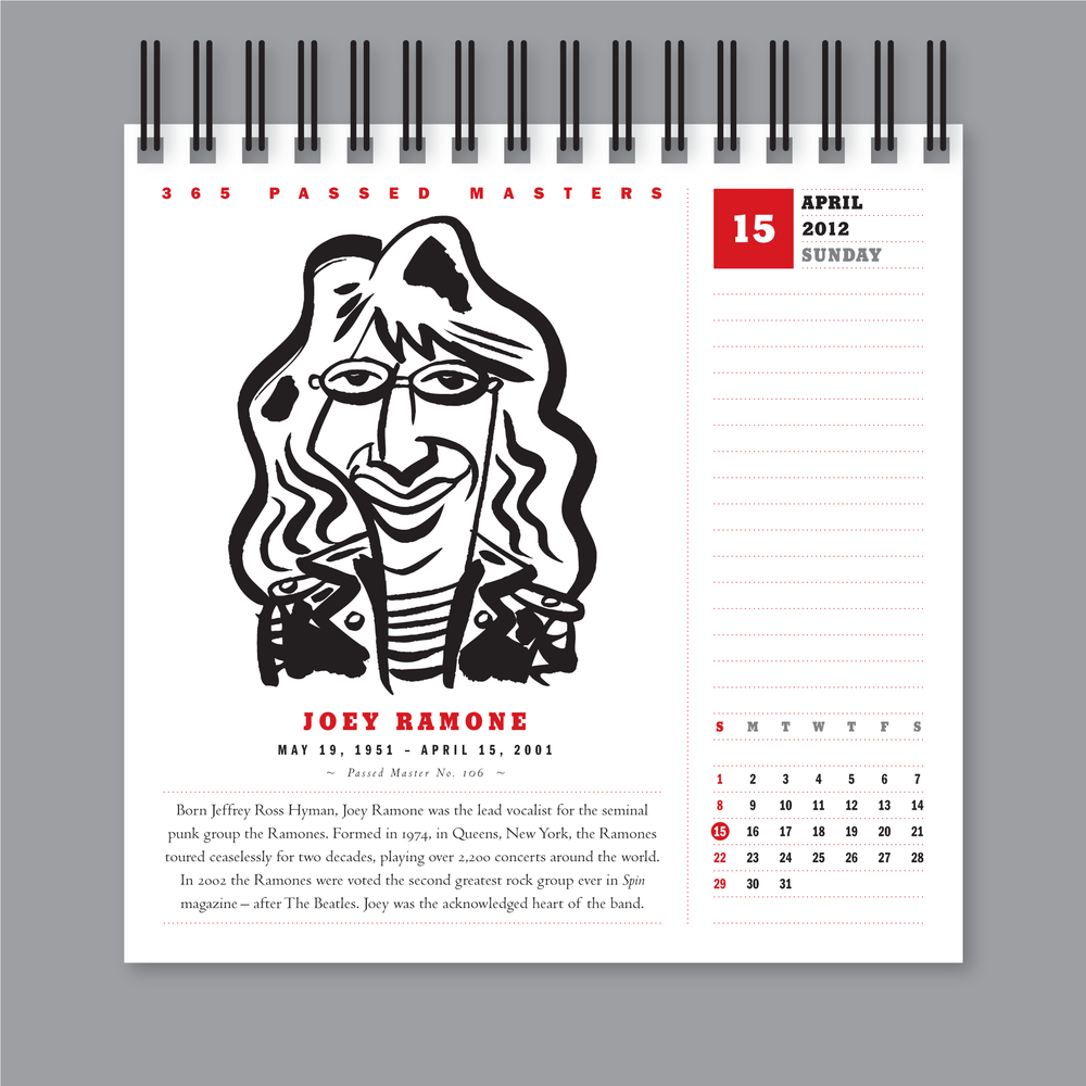 365 Past Masters, Desk Calendar Design