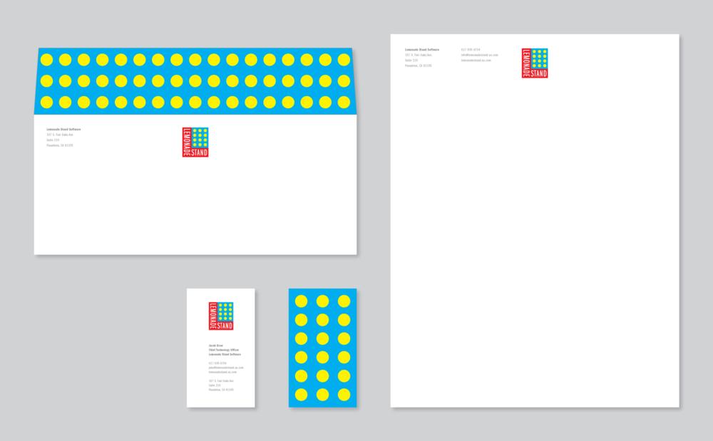 Stationery System Design, Lemonade Stand Pop-Up Stores