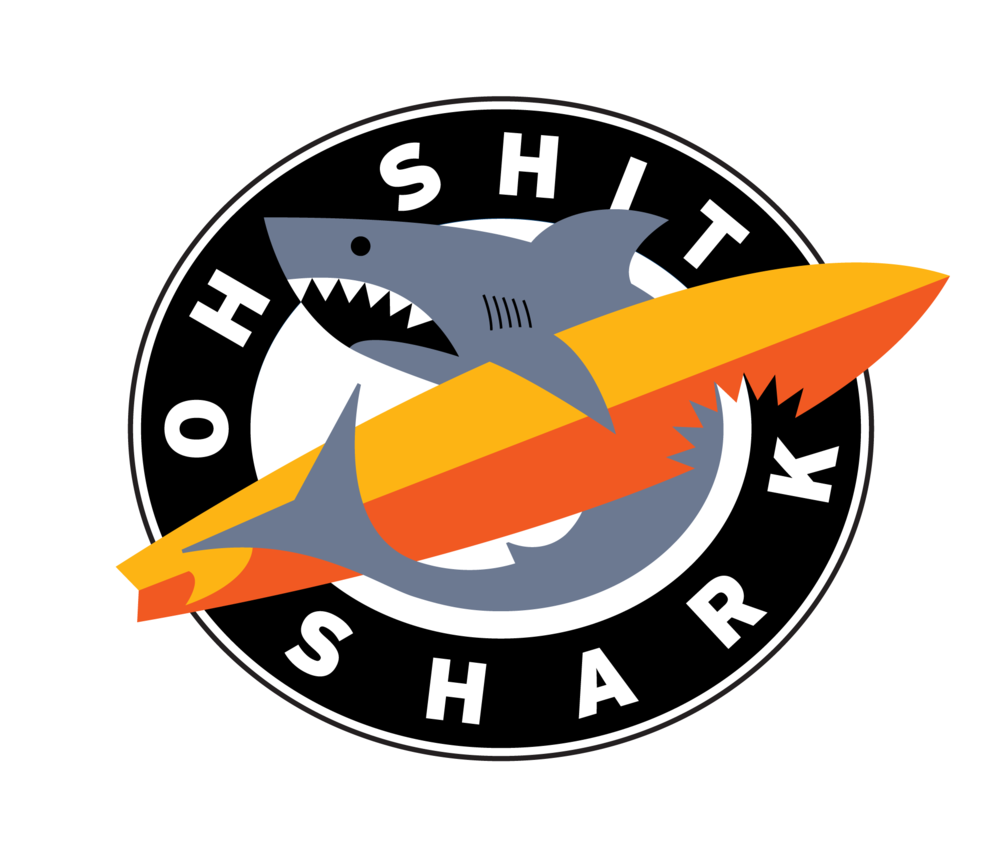 Logo Design, Oh Shit Shark Surf Shops, Australia