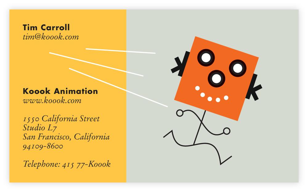 Business Card Design, Koook Animation