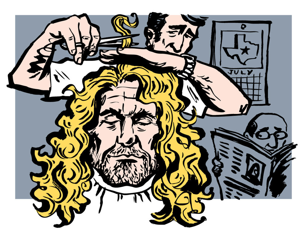 "Illustration for Austin Post, ""Robert Plant Moves to Texas"""