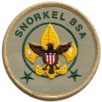 Scouts can earn a Snorkel BSA