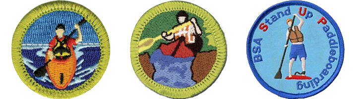 Boy Scouts can earn badges for Kayaking and SUP!